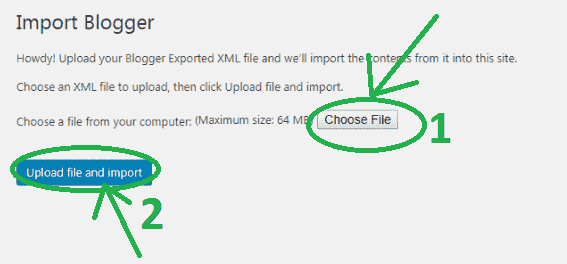 export blogger files to wordpress