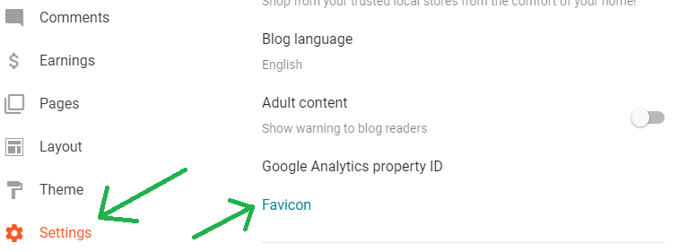 Favicon Option In New Blogger Layout
