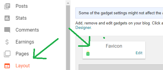 Favicon Option In Old Blogger Layout