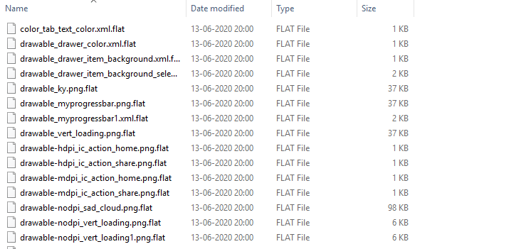 .flat extension files