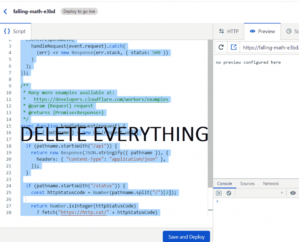 Delete The Existing Worker Script