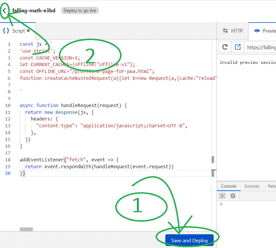 Paste the worker script, save it and deploy.